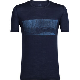 Icebreaker Tech Lite Hard Rain t-shirt Heren blauw